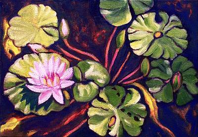 Painting - Pink Lotus Flower by Ruth Soller