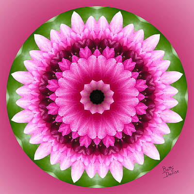 Art Print featuring the photograph Pink Lotus Kaleidoscope by Betty Denise