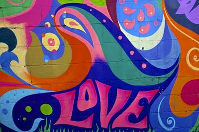 Painting - Pink Love Graffiti Nyc 2014 by Joan Reese