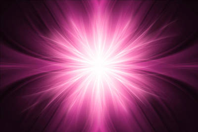 Pink Luminous Rays Background Art Print by Somkiet Chanumporn