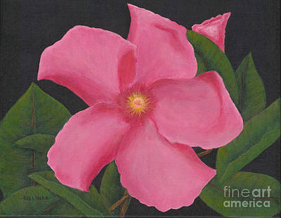 Painting - Pink Mandevilla by Billinda Brandli DeVillez
