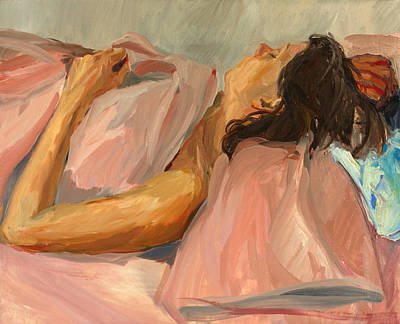 Interior Scene Painting - Pink Margaret by Daniel Clarke
