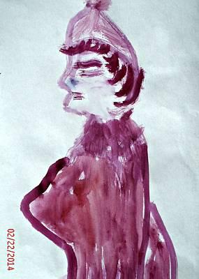School Marm Painting - Pink Marm by Kara Maria Miller