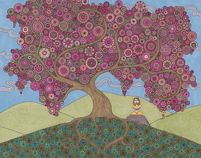 Drawing - Pink Meditation by Pamela Schiermeyer