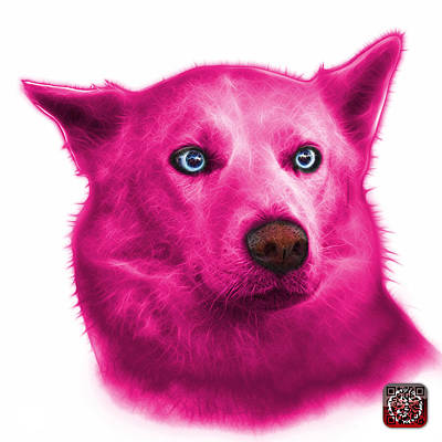Painting - Pink Mila - Siberian Husky - 2103 - Wb  by James Ahn