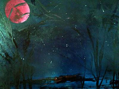 Painting - Pink Moon by Gerry Smith