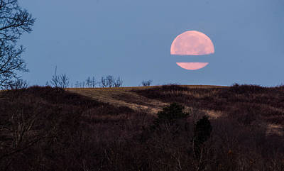 Landscape Photograph - Pink Moon In The Morning  by Jan M Holden