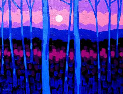 Contemporary Impressionism Painting - Pink Moon by John  Nolan