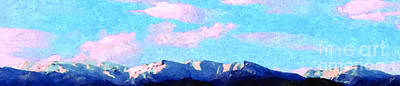 Art Print featuring the painting Blue Mountains by Ze  Di