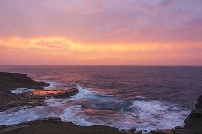 Photograph - Pink Oahu Sunrise - Hawaii by Brian Harig