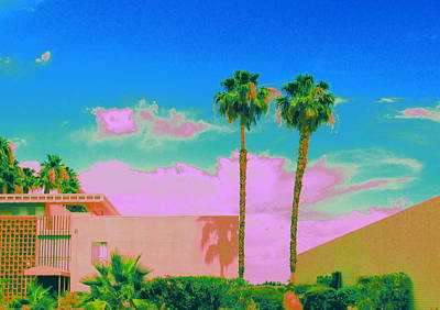 Digital Art - Pink Oasis by Randall Weidner
