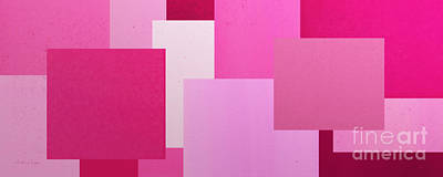 Digital Art - Pink On Pink Panorama 1 by Andee Design