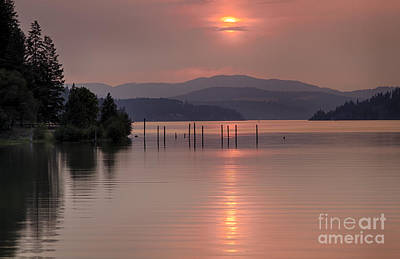 Pink On The Bay Art Print by Idaho Scenic Images Linda Lantzy