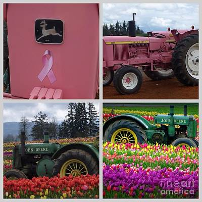 Photograph - Pink Or Green John Deere Tractor by Susan Garren