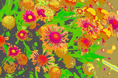 Art Print featuring the photograph Pink Orange Flowers by Suzanne Powers