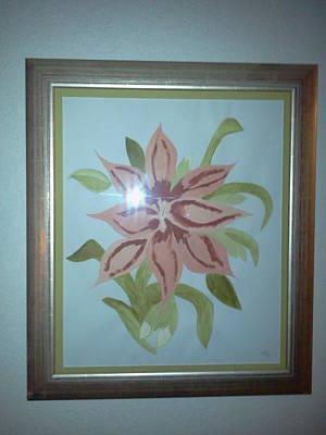 Pink Orchid Art Print by Karen Jensen