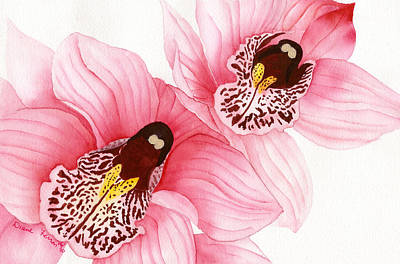 Painting - Pink Orchids by Diane Ferron