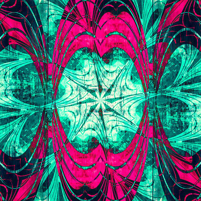 Digital Art - Pink Overlay by Carolyn Marshall