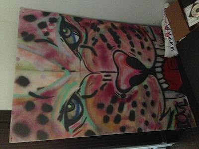 Obey Drawing - Pink Panther by Unknown Graffiti