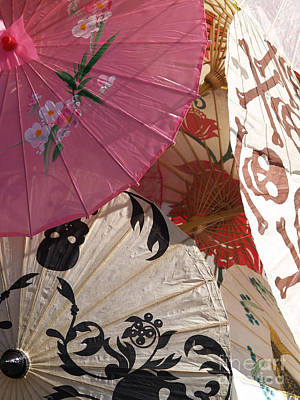 Photograph - Pink Parasol And Skulls by Robin Maria Pedrero