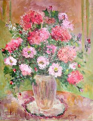 Painting - Pink Parfait by Mary Spyridon Thompson