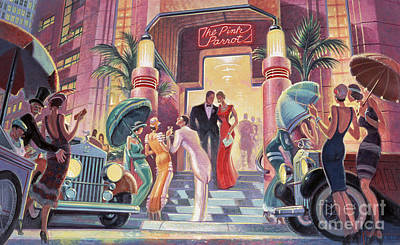 1940s Painting - Pink Parrot Club by Michael Young
