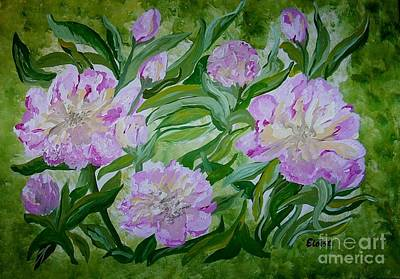 Yellow Flowers Painting - Pink Peonies by Eloise Schneider