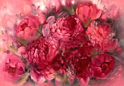 Poetic Painting - Pink Peonies by Melissa Herrin