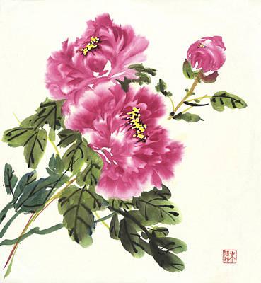 Painting - Pink Peonies by Yolanda Koh
