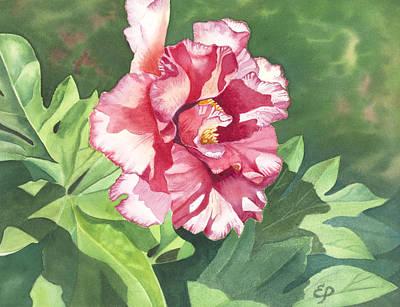 Painting - Pink Peony by Elena Polozova