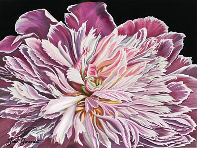 Pink Peony Art Print by Jane Girardot