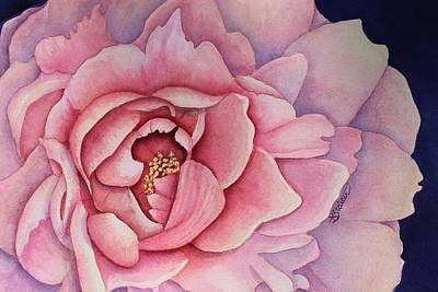 Painting - Pink Peony by Kathy Staicer