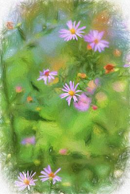 Digital Art - Pink Petals by Terry Cork