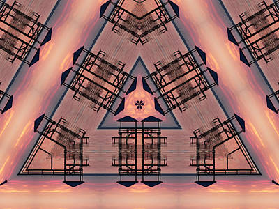 Digital Art - Pink Pier Kaleidoscope One by Kathy K McClellan