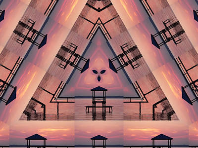 Digital Art - Pink Pier Kaleidoscope Two  by Kathy K McClellan