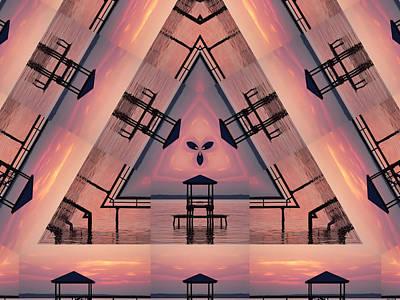 Pink Pier Kaleidoscope Two  Art Print