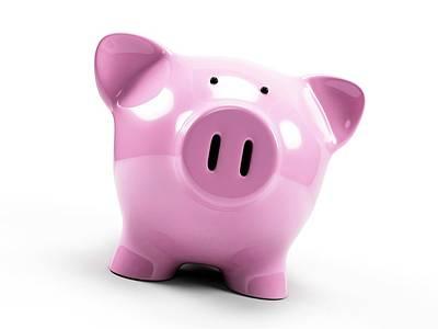 Pink Piggy Bank Art Print by Sebastian Kaulitzki