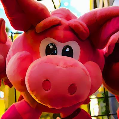 Photograph - Pink Piggy by Joan Reese