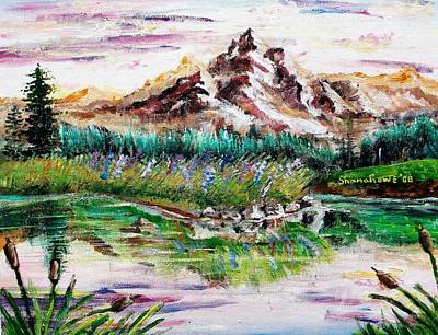 River Mouth Painting - Pink Pond by Shana Rowe Jackson