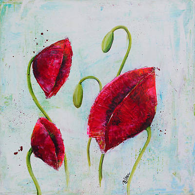 Pink Poppies 1 Art Print by Bitten Kari