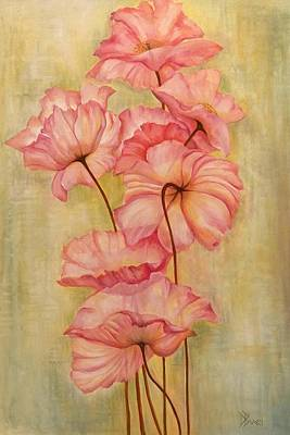 Flower Painting - Pink Poppies by Debra Bucci