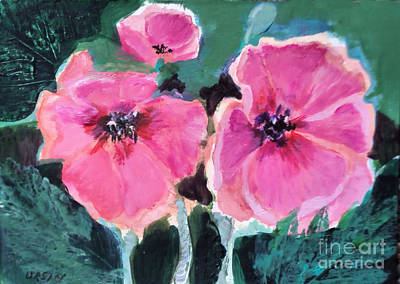Painting - Pink Poppies by Diane Ursin