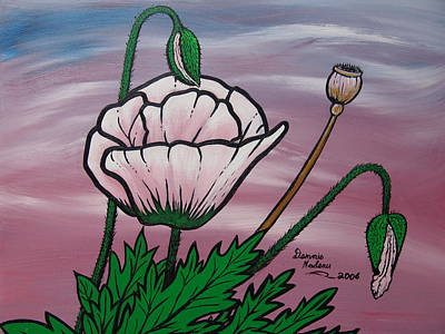 Showy Painting - Pink Poppys by Dennis Nadeau