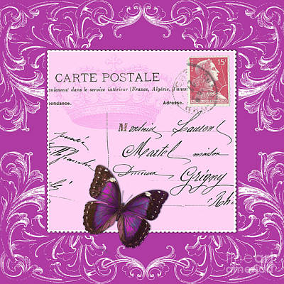 Pink Postcard Art Print