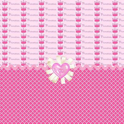 Pink Princess Crowns Art Print by Debra  Miller