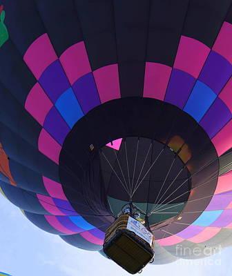Photograph - Pink Purple And Blue Balloon by Rachel Munoz Striggow