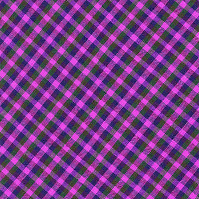 Pink Purple And Green Diagonal Plaid Textile Background Art Print by Keith Webber Jr
