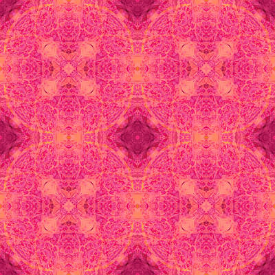 Quadro Digital Art - Pink Quadro by Matthias Hennig