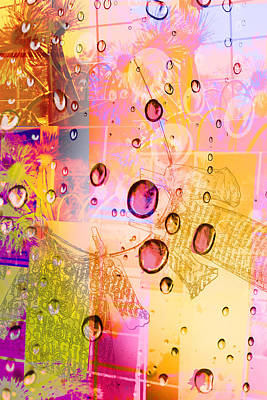 Digital Art - Pink Rain And Spring by Susan Stone