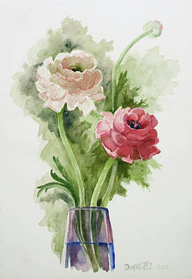 Painting - Pink Ranunculus 2 by Kathryn Donatelli